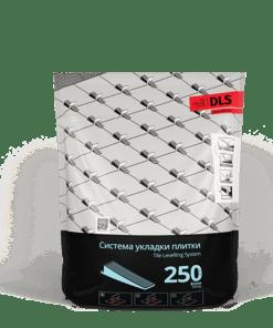 """Клин """"DLS"""" (250 шт/уп). Система Выравнивания Плитки – СВП."""