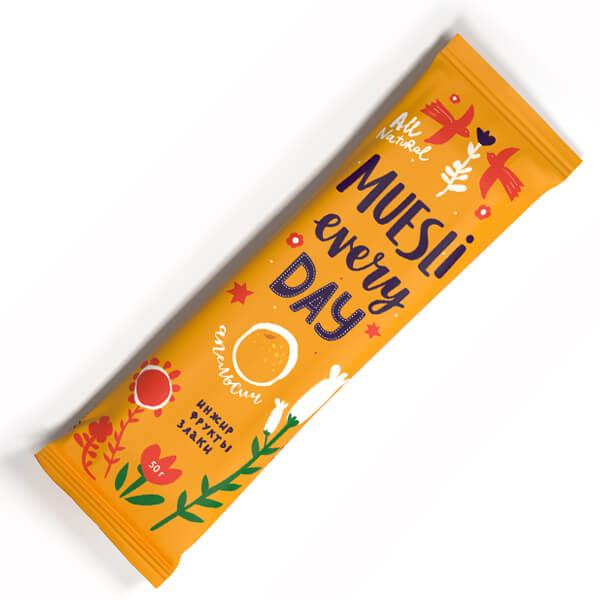 Фруктово-злаковый батончик Effort инжир с апельсином