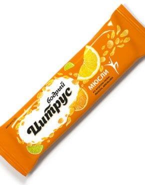Мюсли прессованные.Злаковый батончик Effort со вкусом лимон/лайм/апельсин