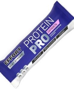 Мюсли прессованные. Батончик Effort protein PRO Карамель