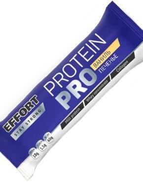 Мюсли прессованные. Батончик Effort protein PRO Ваниль/печенье