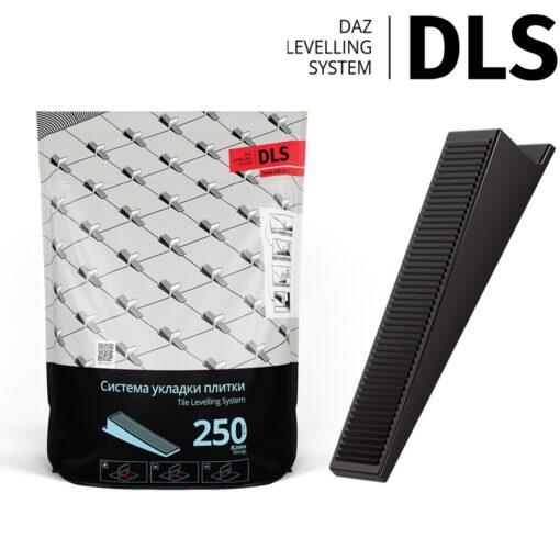 """Клин """"DLS"""" (250 шт/уп). Система Выравнивания Плитки - СВП."""