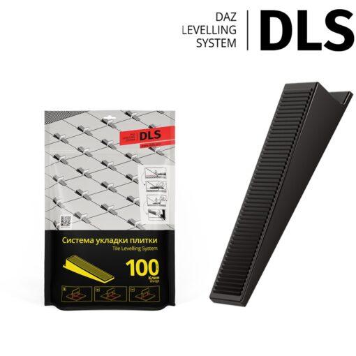 """Клин """"DLS"""" (100 шт/уп). Система Выравнивания Плитки - СВП."""