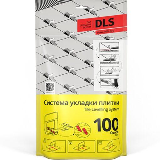 Основы DLS 0,75 мм (100 шт/уп; h 3-12 мм). Система выравнивания плитки - СВП.